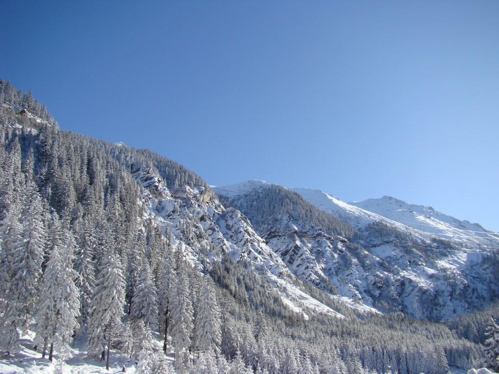 Zapada la munte