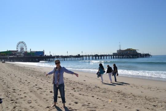 LA Santa Monica beach