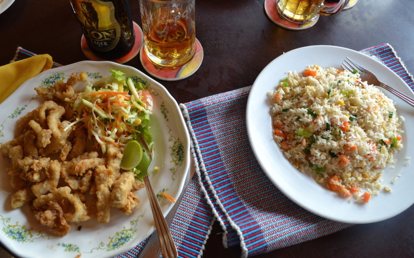 Sri Lanka 14 Refresh fried calamari and seafood fried rice